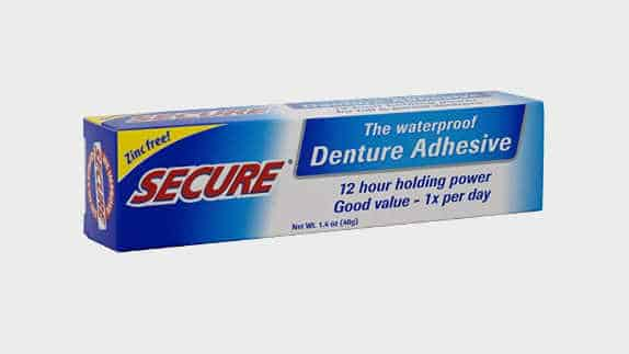 Secure dental adhesive